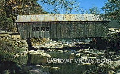 Old Covered Bridge - Tunbridge, Vermont VT Postcard