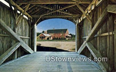 1872 Covered Bridge - Rockingham, Vermont VT Postcard