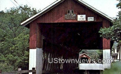 New England's Two Closest Covered Bridges - Northfield, Vermont VT Postcard