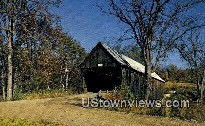 Covered Bridge, Ottauquechee River - West Woodstock, Vermont VT Postcard