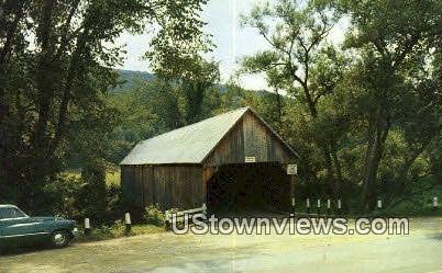 Old Covered Bridge - Woodstock, Vermont VT Postcard