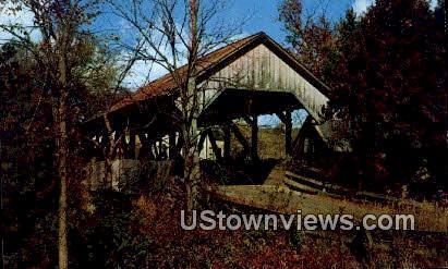 Covered Bridge - Lyndon, Vermont VT Postcard