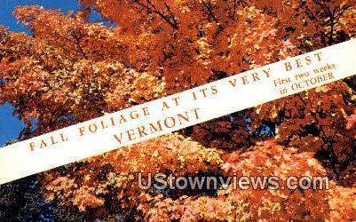 Fall Foliage - Misc, Vermont VT Postcard