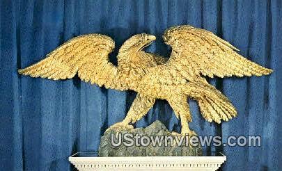 Filded Eagle, Carved - Bennington, Vermont VT Postcard