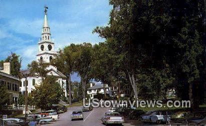 Middlebury's Main Street - Vermont VT Postcard