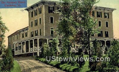Prospect Hotel - Castleton, Vermont VT Postcard