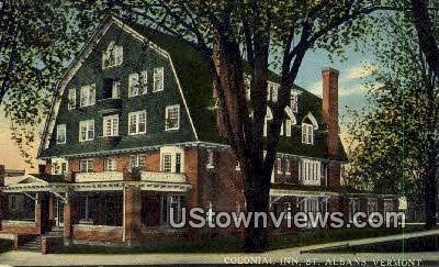 Colonial inn - St Albans, Vermont VT Postcard
