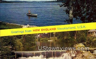 New England, VT     ;     New England, Vermont Postcard