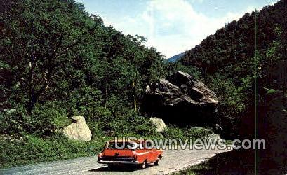 King Rock, Smugglers Notch - Mount Mansfield, Vermont VT Postcard