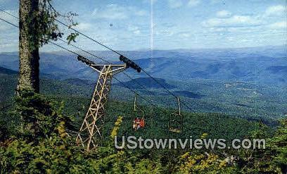 Killington Chairleift - Vermont VT Postcard