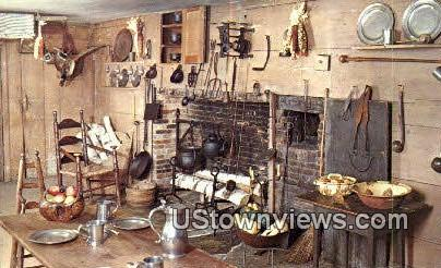 Kitchen, Dutton House, Shelburne Museum - Vermont VT Postcard