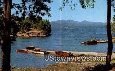 Adirondack Mountains - Lake Champlain, Vermont VT Postcard