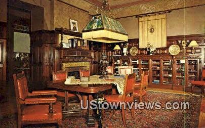 Library, Wilson Castle - Rutland, Vermont VT Postcard