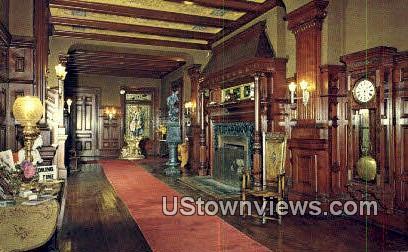 Grand Reception Hall, Wilson Castle - Rutland, Vermont VT Postcard