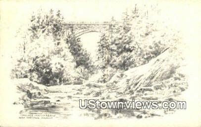 Quechee Gulf & Bridge - Woodstock, Vermont VT Postcard