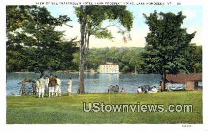 Trakenseen hotel, Prospect Point - Lake Bomoseen, Vermont VT Postcard