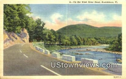 West River Road - Brattleboro, Vermont VT Postcard