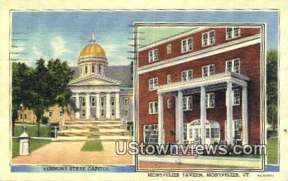 Montpelier Tavern, State Capitol - Vermont VT Postcard