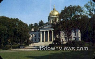 The Capitol - Montpelier, Vermont VT Postcard