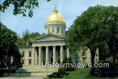 Vermont's Capitol - Montpelier Postcard