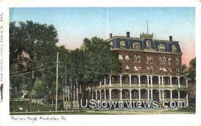 Pavilion Hotel - Montpelier, Vermont VT Postcard