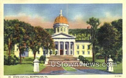 State Capitol - Montpelier, Vermont VT Postcard