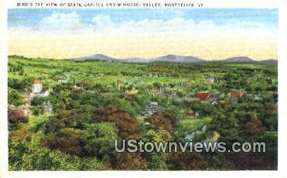 State Capitol, Winooski Valley - Montpelier, Vermont VT Postcard