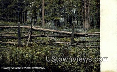 Boundary Line - Misc, Vermont VT Postcard