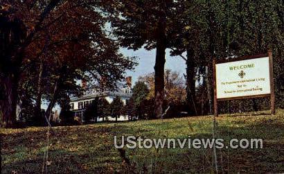 Main Bldg, School for International Training - Brattleboro, Vermont VT Postcard