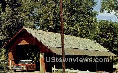 Old Covered Bridge - Brattleboro, Vermont VT Postcard