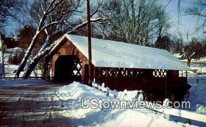 Creamery Bridge - Brattleboro, Vermont VT Postcard