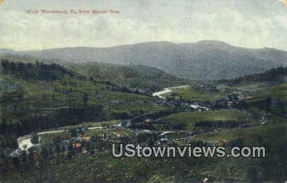 Mount Tom - West Woodstock, Vermont VT Postcard