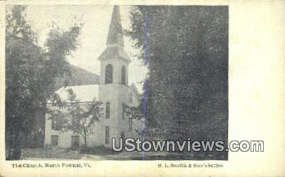 The Church - North Pownal, Vermont VT Postcard
