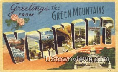 Greetings from Vermont - Green Mountains Postcard