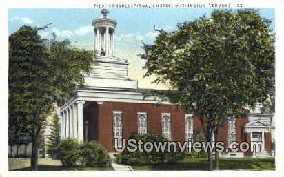 First Congregational Church - Burlington, Vermont VT Postcard
