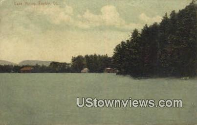 Lake Morey - Fairlee, Vermont VT Postcard
