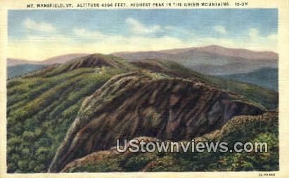 Green Mountain - Mount Mansfield, Vermont VT Postcard