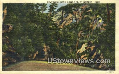 Smuggler's Notch - Green Mountains, Vermont VT Postcard