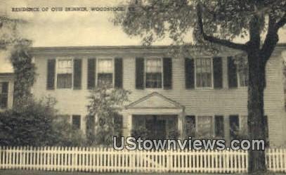 Residence of Otis Skinner - Woodstock, Vermont VT Postcard