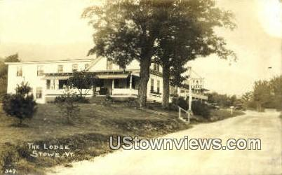 Real Photo - The Lodge - Stowe, Vermont VT Postcard