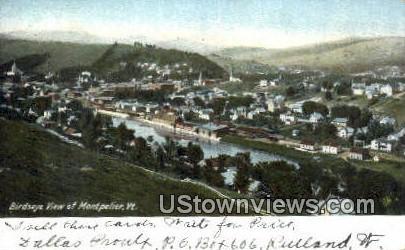 Montpelier, VT     ;     Montpelier, Vermont Postcard