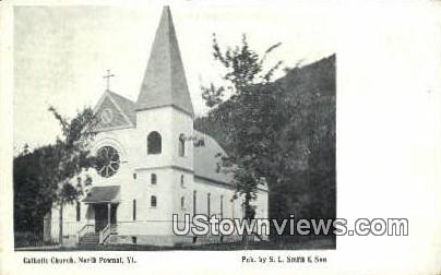 Catholic Church - North Pownal, Vermont VT Postcard