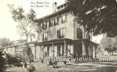 Fair Haven Inn - Vermont VT Postcard