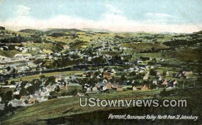 Pasumsic Valley, St Johnsbury - Vermont VT Postcard