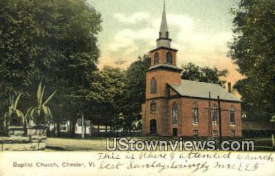 Baptist Church - Chester, Vermont VT Postcard