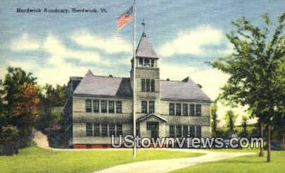 Hardwick Academy - Vermont VT Postcard