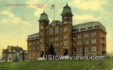 Goddard Seminary & Dorm - Barre, Vermont VT Postcard