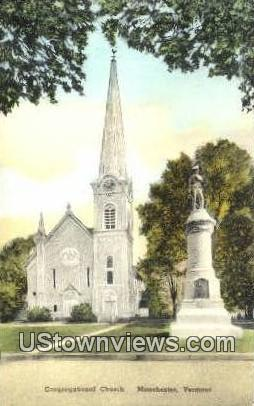 Congregational Church - Manchester, Vermont VT Postcard