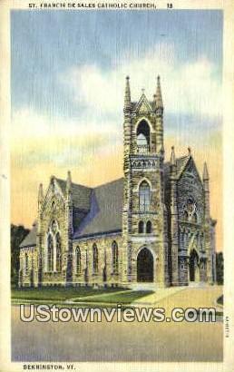 St Francis De Sales Catholic Church - Bennington, Vermont VT Postcard