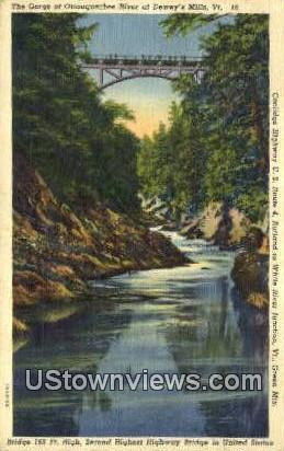 Ottauquechee River - Deweys Mills, Vermont VT Postcard